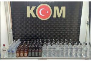Tekirdağ'da 82 şişe kaçak içki ele geçirildi