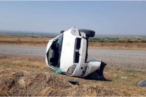 Malkara'da otomobil takla attı: 1'i bebek 3 yaralı