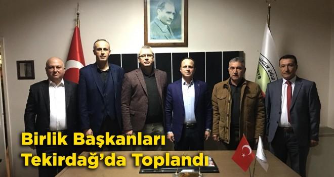 Damızlık Sığır Yetiştiricileri Birlik Başkanları Tekirdağ'da Toplandı