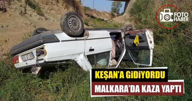 Otomobil dereye uçtu; 1 Yaralı
