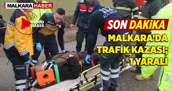 Malkara'da Trafik Kazası; 1 Yaralı