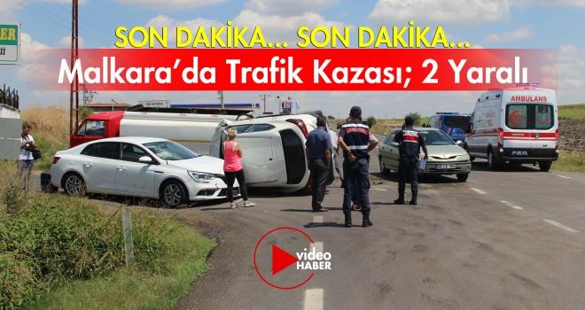 Malkara'da Zincirleme Trafik Kazası; 2 Yaralı
