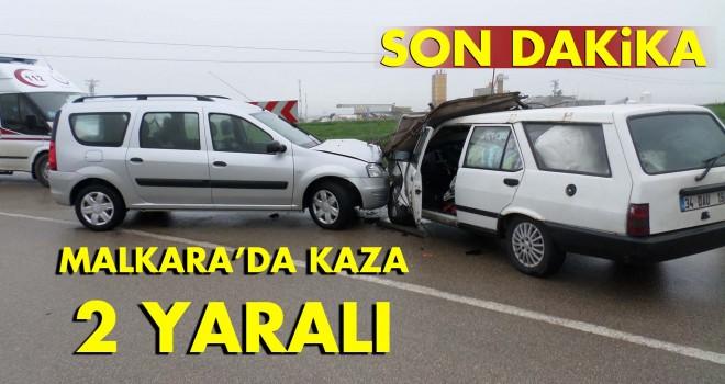MALKARA'DA KAZA; 2 YARALI