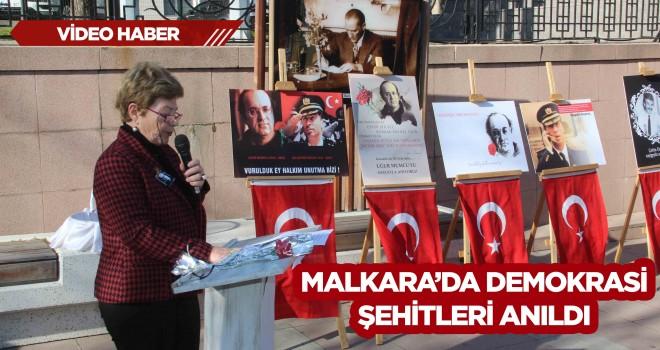 Malkara'da Demokrasi Şehitleri Anıldı