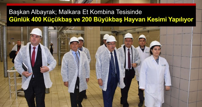 Başkan Albayrak, Malkara Et Kombina Tesisine Ziyaret!