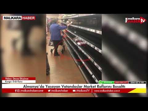 Almanya'da Yaşayan Vatandaşlar Market Raflarını Boşalttı