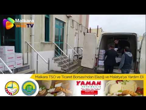 Malkara TSO ve Ticaret Borsası'ndan Elazığ ve Malatya'ya Yardım Eli